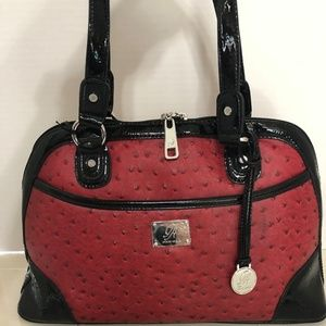 Emma Red Ostrich-inspired Bag by Grace Adele